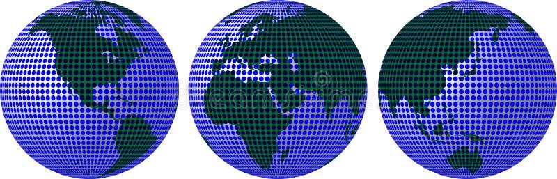 Aarde in cirkels royalty-vrije illustratie