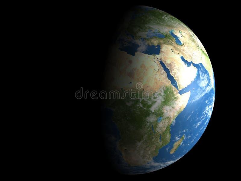 Aarde - Dag en Nacht royalty-vrije illustratie