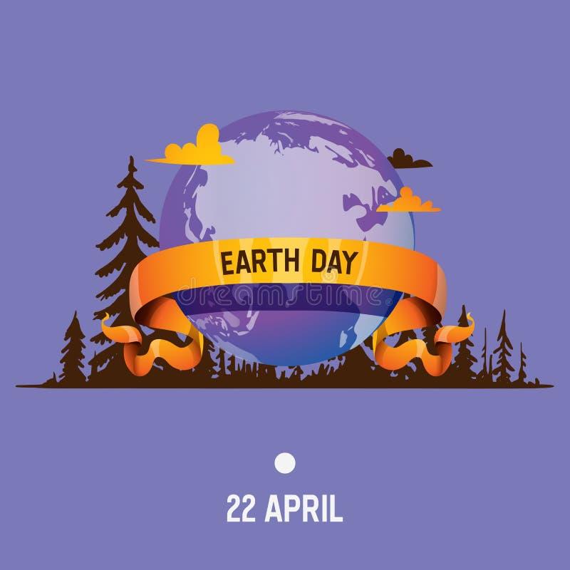 Aarde-dag van het de wereldheelal van de aardeplaneet de vector globale en de universele wereldlijke reeks wereldwijd van de boli royalty-vrije illustratie