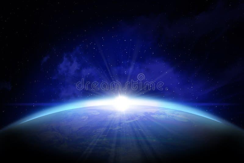 Aarde die van ruimte wordt gezien vector illustratie