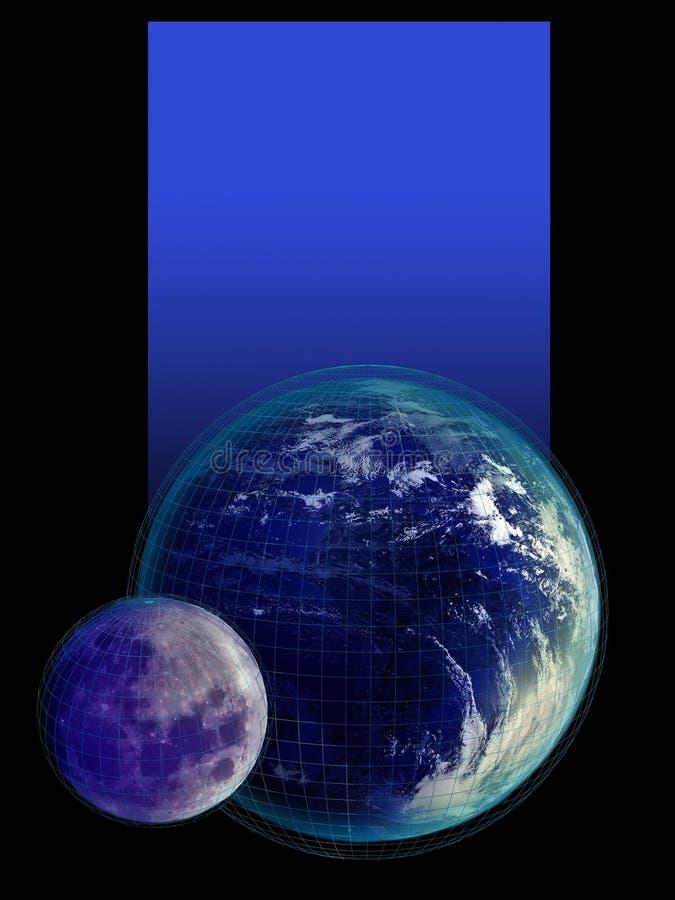 Aarde en Maankaart stock illustratie