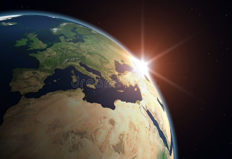 Aarde - Europa stock illustratie