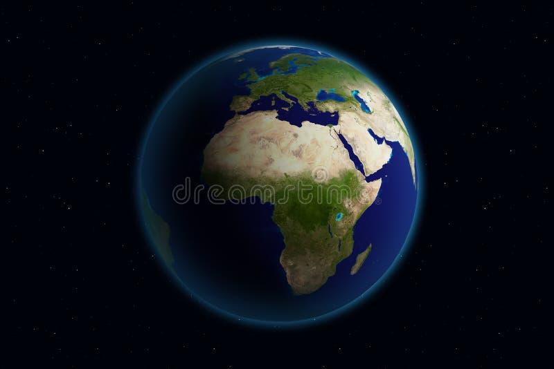 Aarde - Europa royalty-vrije illustratie