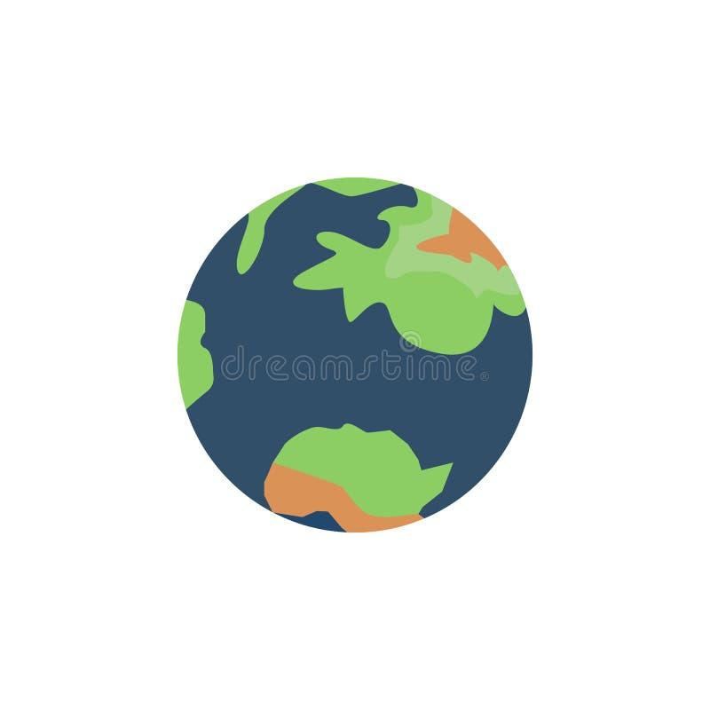 Aarde gekleurd pictogram Element van ruimteillustratie Tekens en symbolen het pictogram kan voor Web, embleem, mobiele toepassing vector illustratie