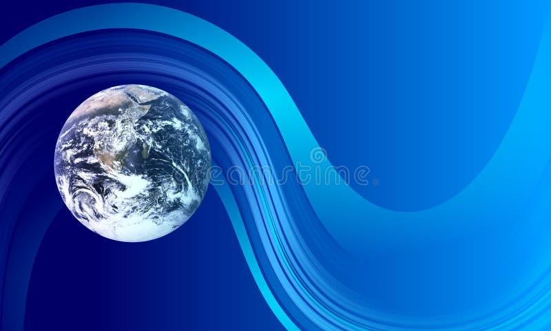 Aarde golvende achtergrond de mededeling van de aardetechnologie stock illustratie