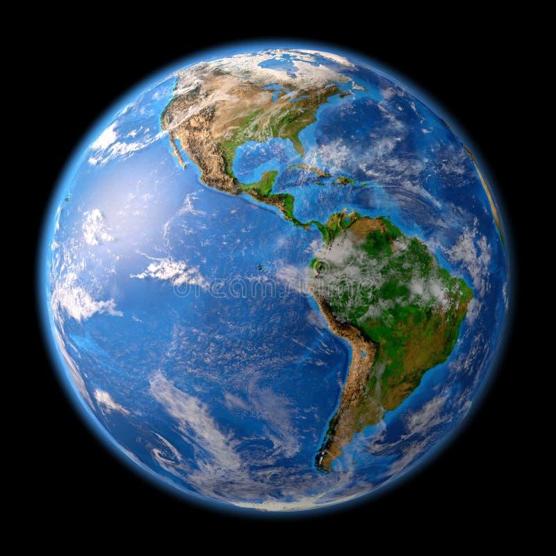 Aarde in hoge resolutie vector illustratie