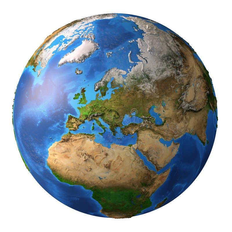 Aarde in hoge resolutie stock illustratie