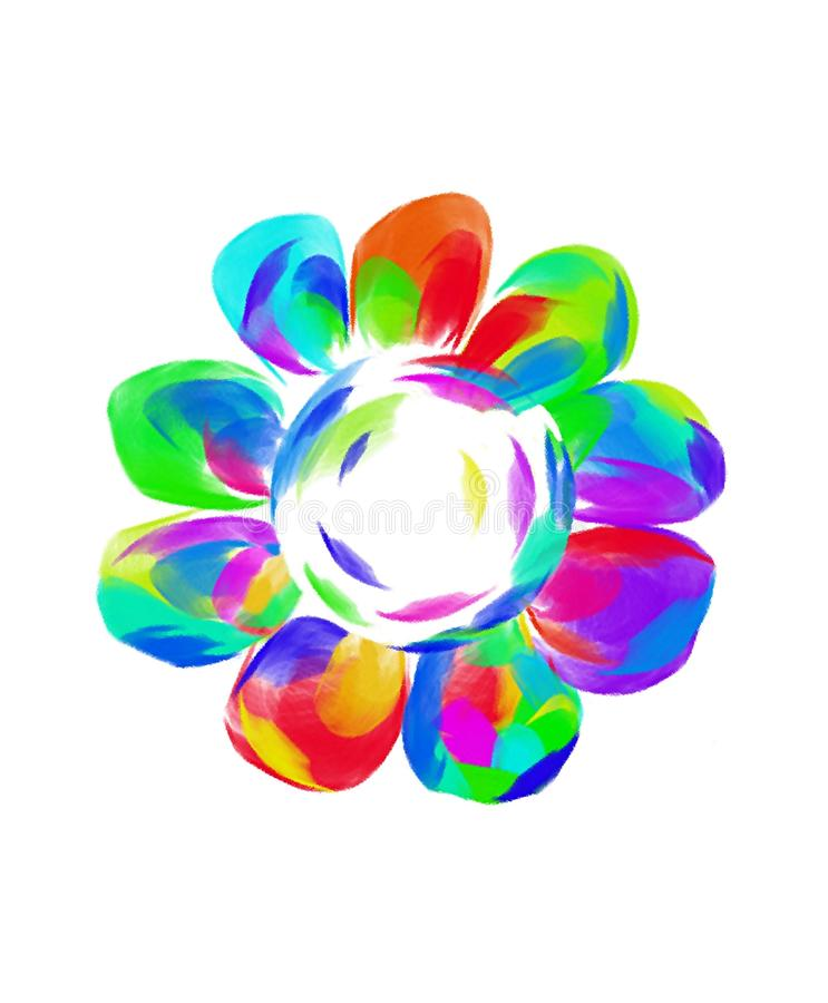 Aarde in kleurrijke bloemblaadjes van een bloem beeld royalty-vrije stock fotografie