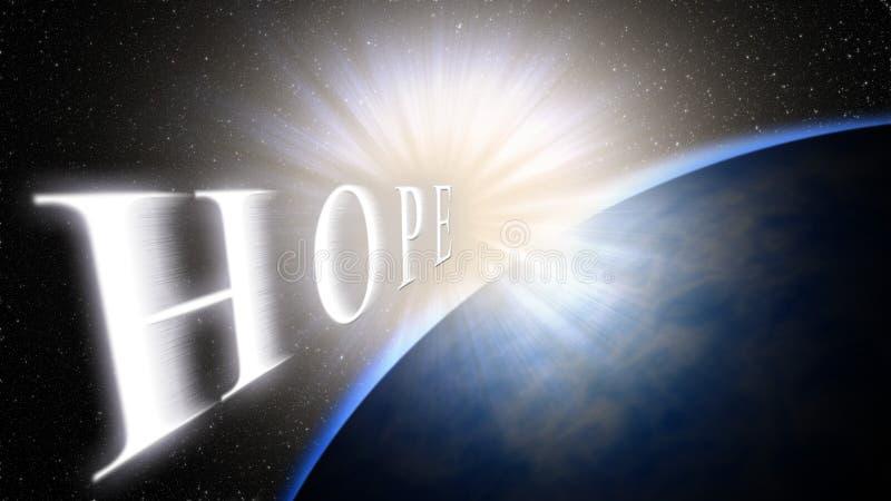 Aarde, licht, ruimte Het licht brengt hoop voor het nieuw leven, een nieuw begin stock foto