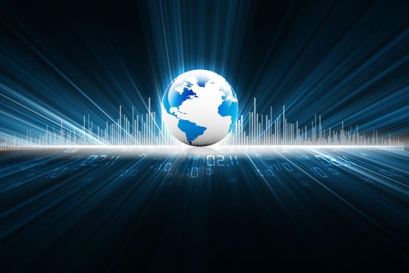 Aarde met digitale vezels vector illustratie