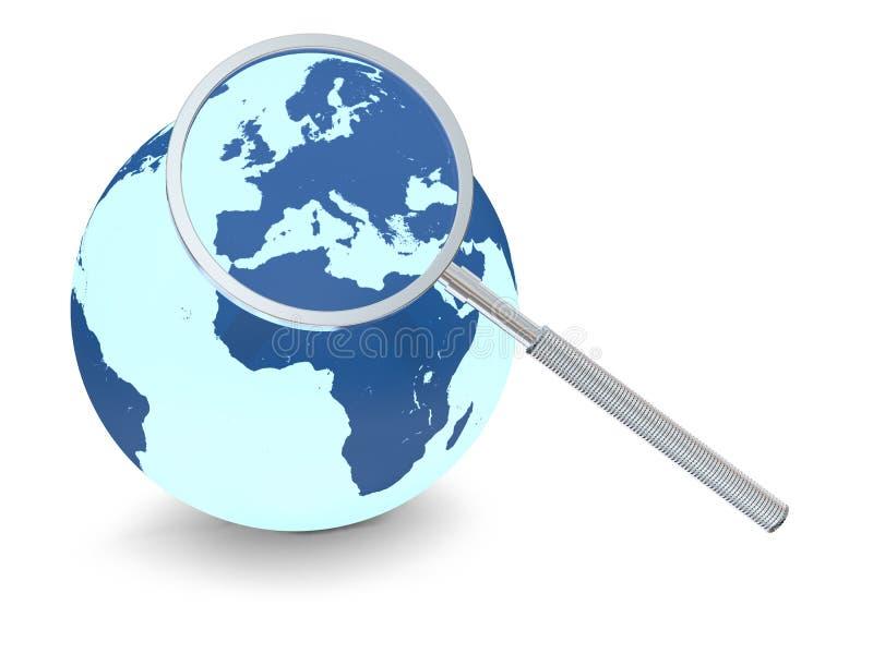 Aarde met nadruk op Europa stock illustratie