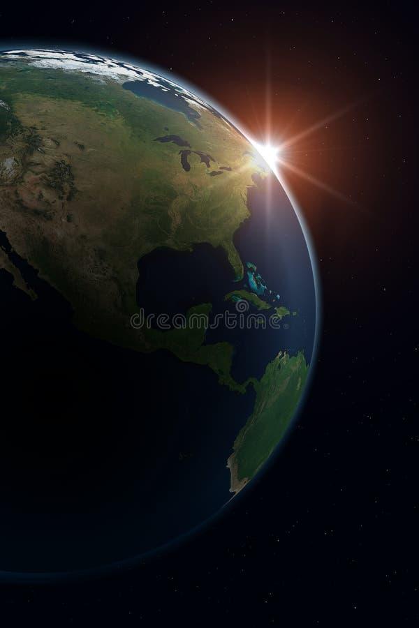 Aarde - Noord-Amerika stock illustratie