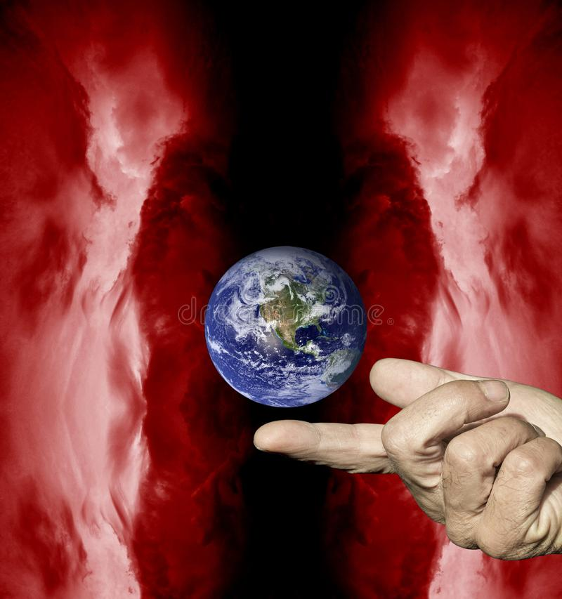 Aarde ons enig huis stock illustratie