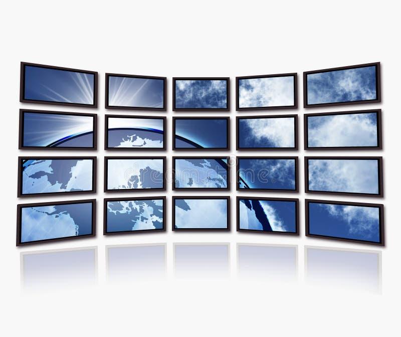 Aarde op de TVschermen vector illustratie