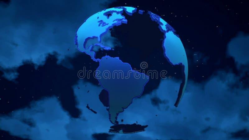 Aarde op de wolkenachtergrond royalty-vrije stock afbeelding