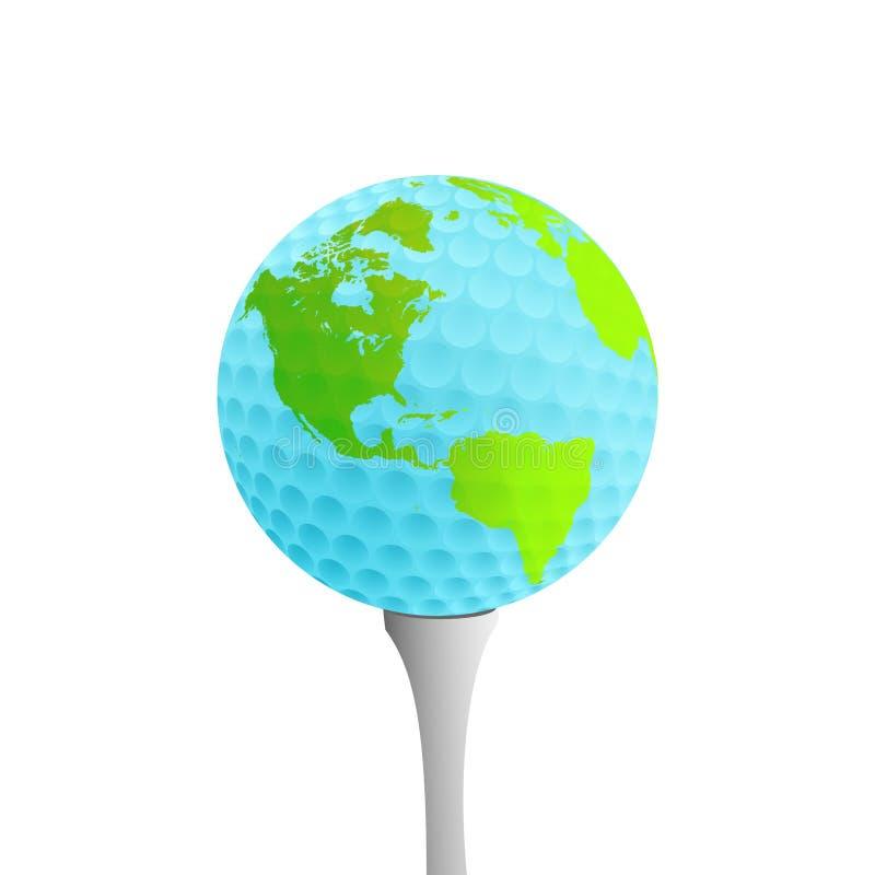Aarde op golfT-stuk vector illustratie