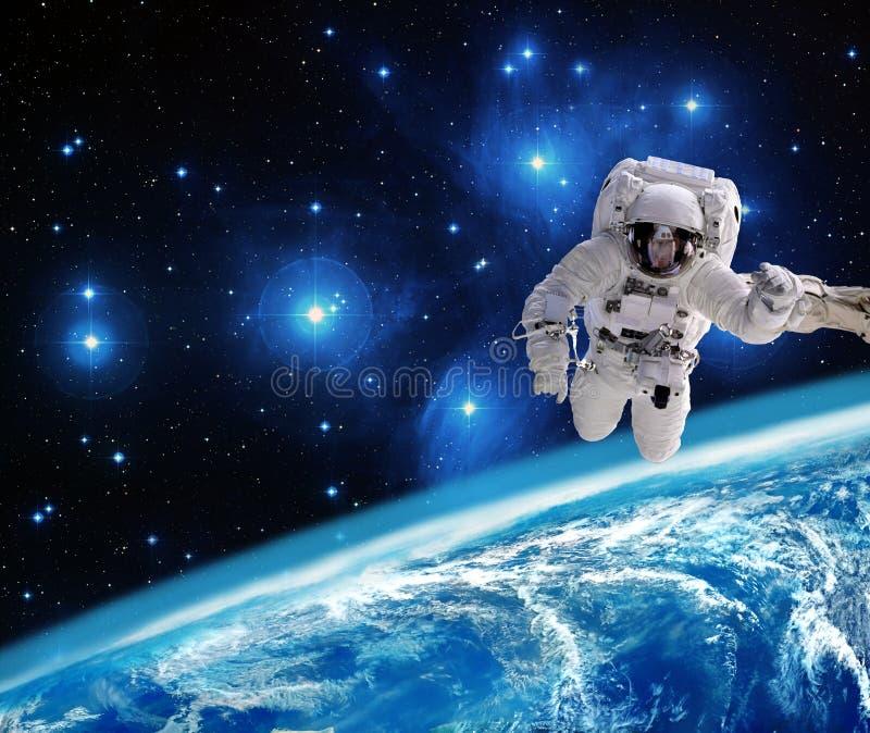Aarde op ruimteachtergrond vector illustratie