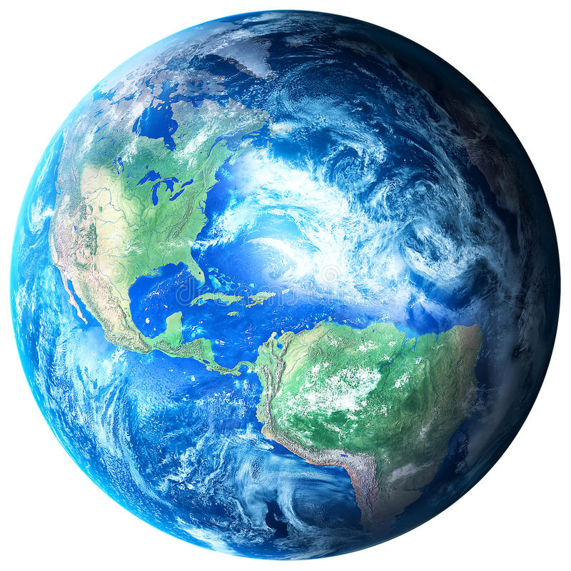 Aarde op transparante achtergrond royalty-vrije illustratie