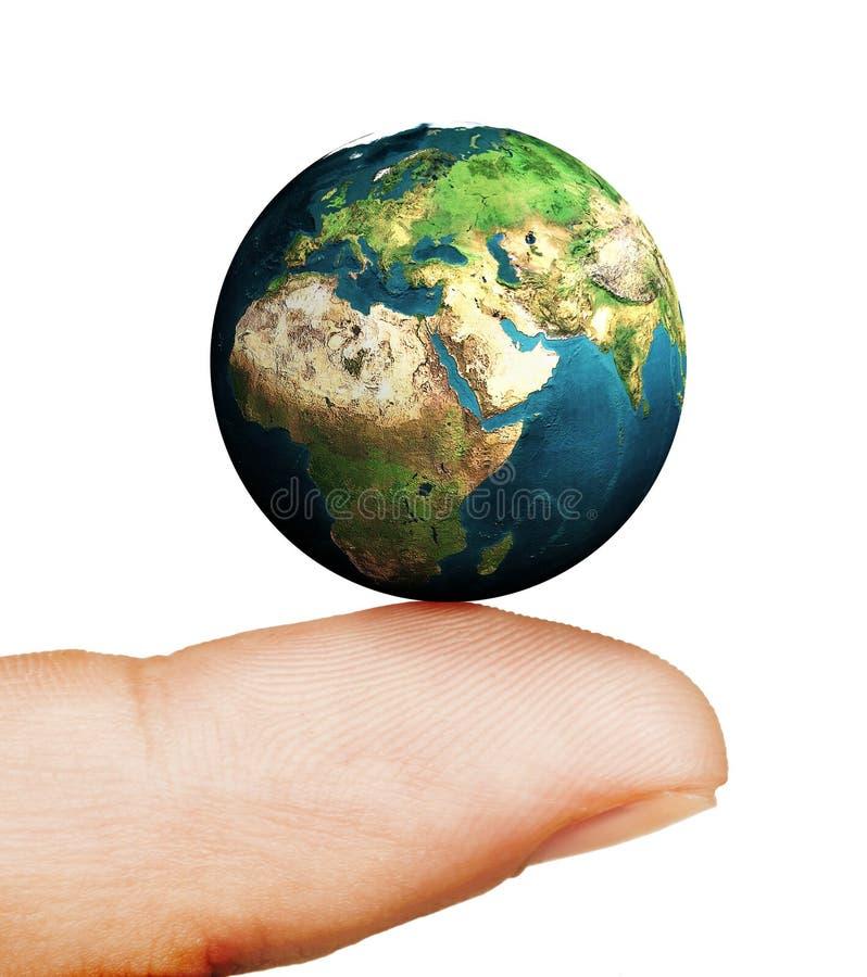 Aarde op uw vinger royalty-vrije illustratie