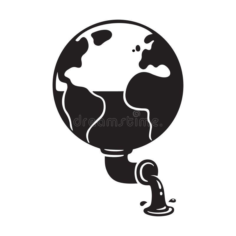 Aarde resourses ecologie royalty-vrije illustratie