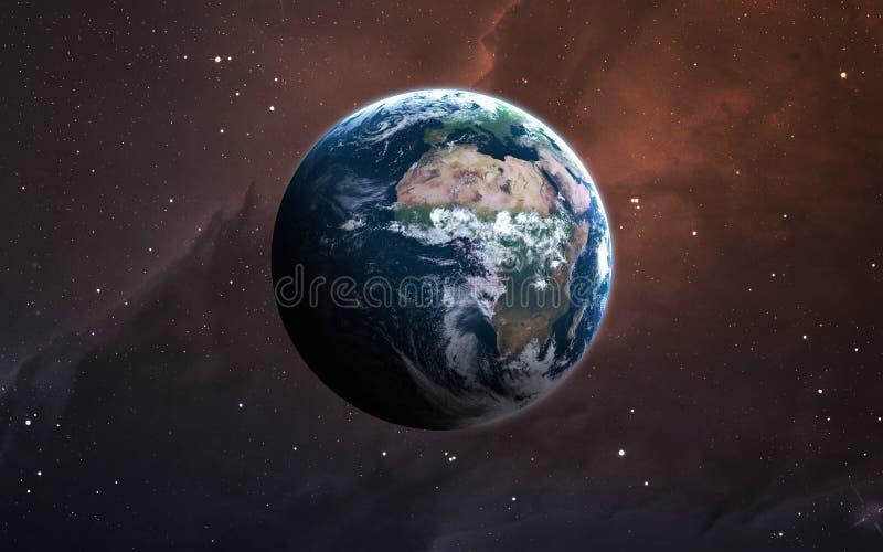 Aarde - stelt de Hoge resolutie 3D beelden planeten van het zonnestelsel voor Dit die beeldelementen door NASA worden geleverd royalty-vrije stock foto's