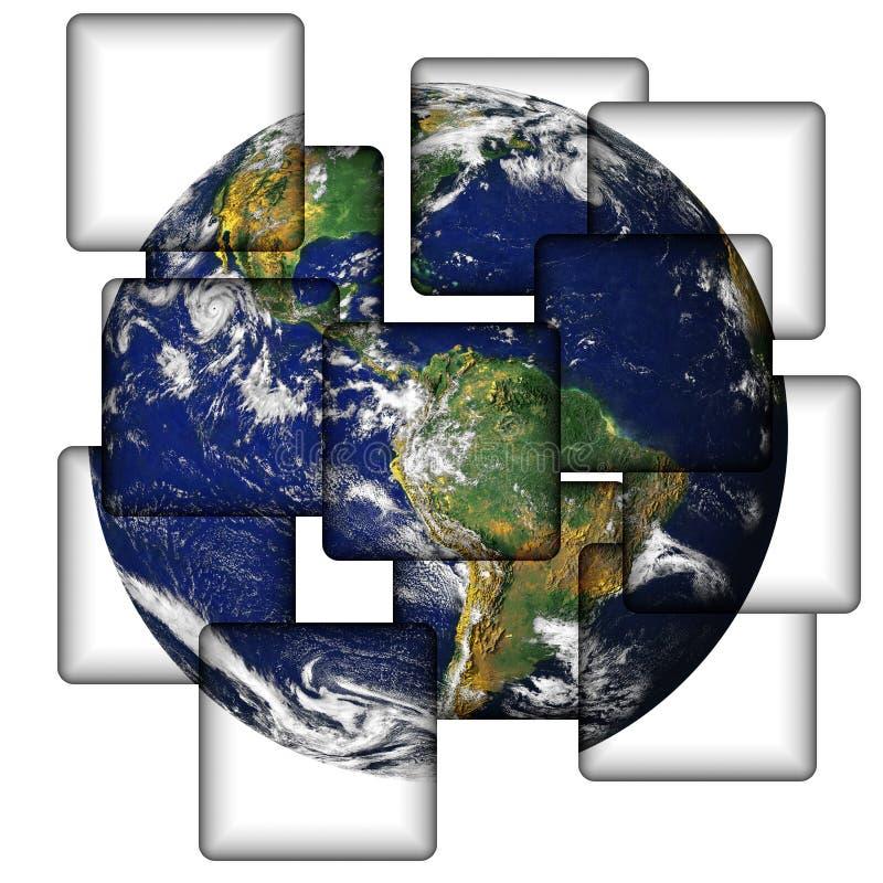 Aarde in Tegels vector illustratie