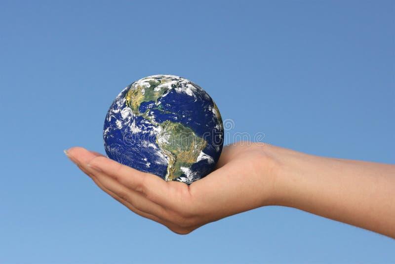 Aarde ter beschikking stock foto
