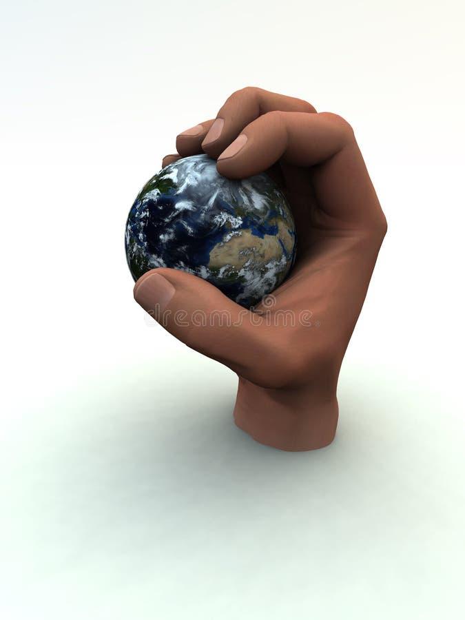 Aarde ter beschikking 2 royalty-vrije illustratie