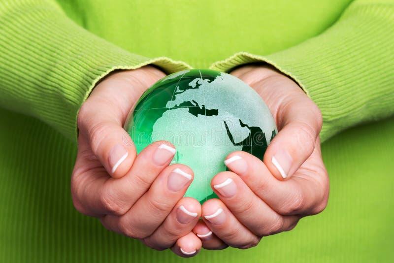 Aarde ter beschikking, milieuconcept stock foto