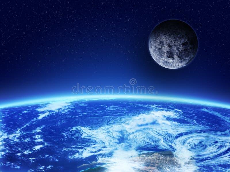 Aarde van Ruimte royalty-vrije illustratie