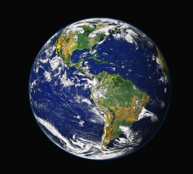 Aarde van ruimte - Amerika royalty-vrije illustratie