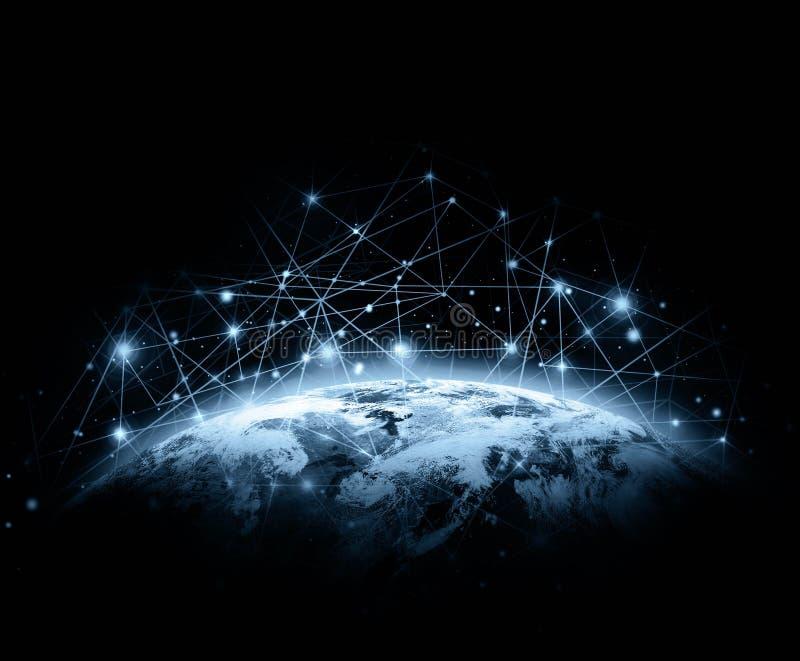 Aarde van Ruimte Het beste Concept van Internet globale zaken van conceptenreeks Elementen van dit langs geleverde beeld vector illustratie