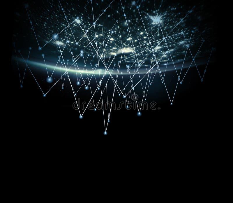 Aarde van Ruimte Het beste Concept van Internet globale zaken van conceptenreeks Elementen van dit langs geleverde beeld royalty-vrije illustratie