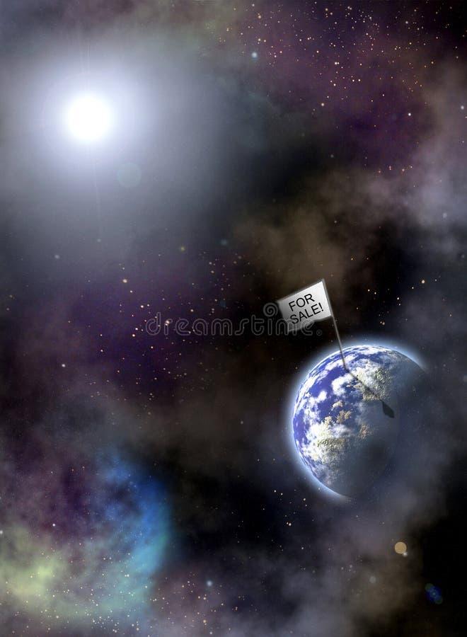 Aarde voor verkoop royalty-vrije stock afbeelding