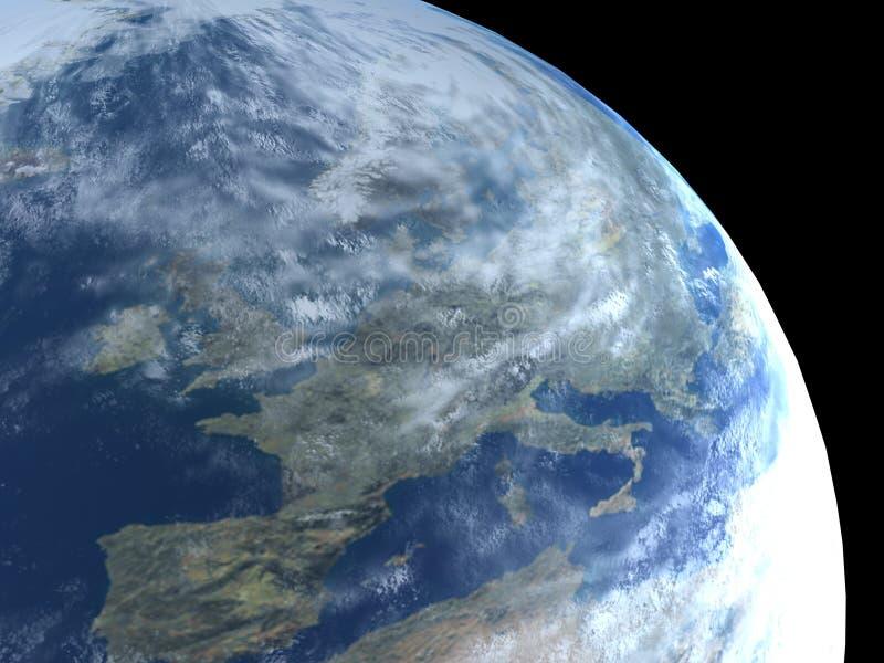 Aarde zoals planeet royalty-vrije stock afbeeldingen