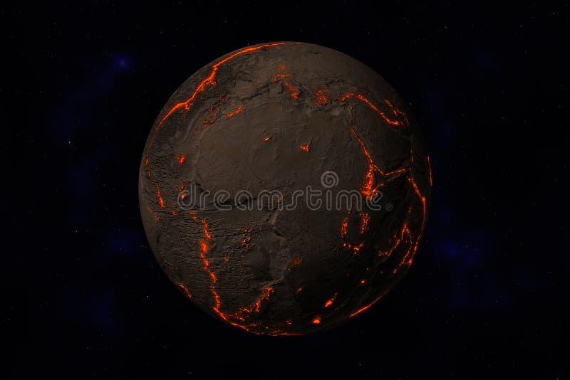 Aarde zonder water en installaties vector illustratie