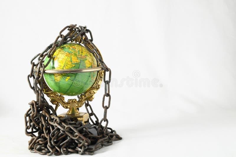 Aardebol dicht in ketting. 3d… stock foto's
