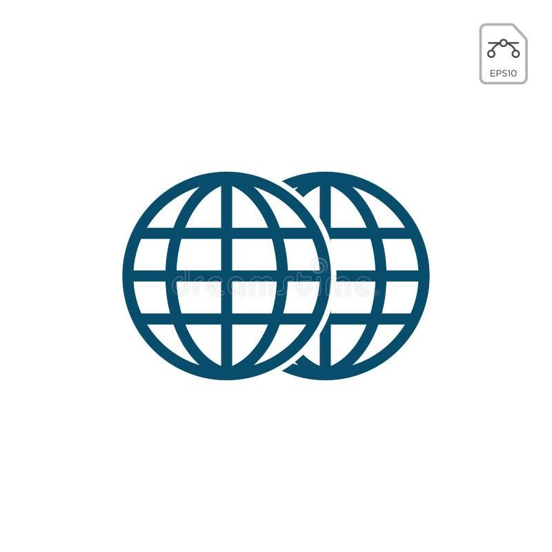Aardebollen op witte achtergrond worden geïsoleerd die Vlak aardepictogram Vectorillustratie of embleeminspiratie vector illustratie