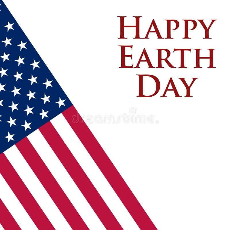 Aardedag in de Verenigde Staten vector illustratie