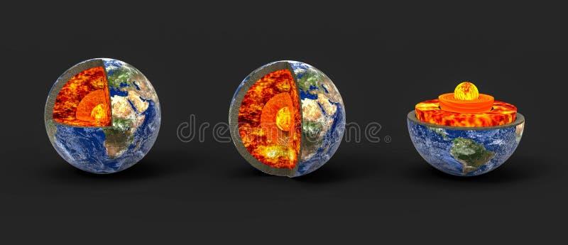 Aardekern stock illustratie