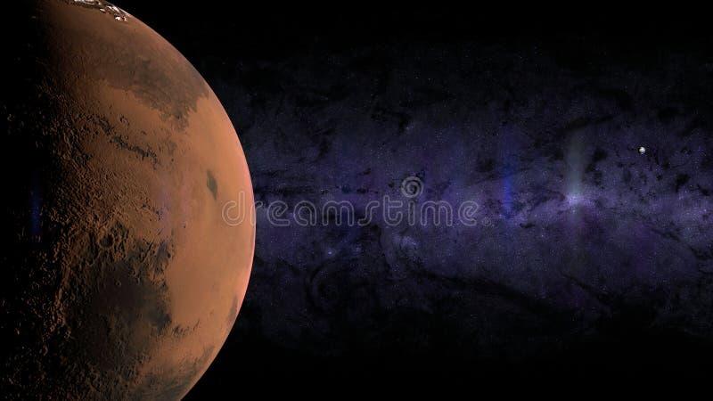 Aardemaan Mars vector illustratie