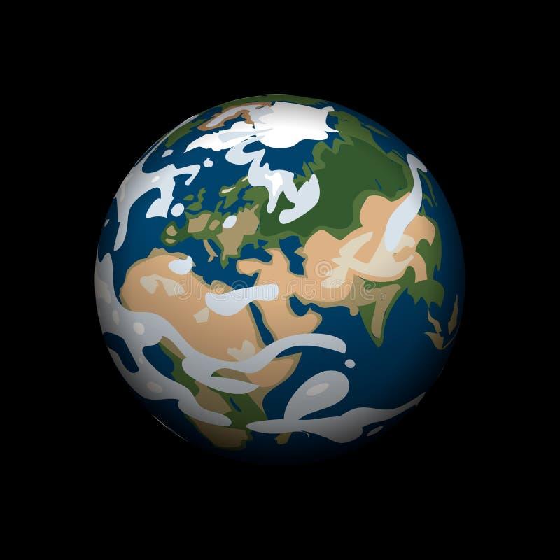 Aardepictogram, isometrische stijl royalty-vrije illustratie