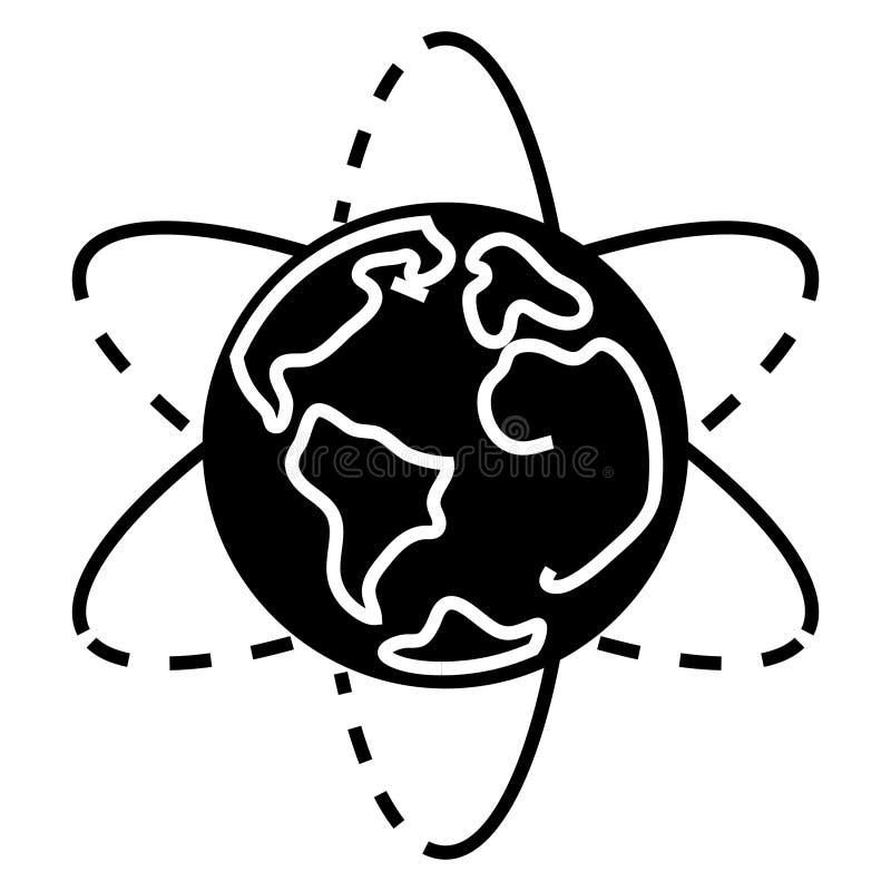 Aardepictogram, vectorillustratie, zwart teken op geïsoleerde achtergrond royalty-vrije illustratie