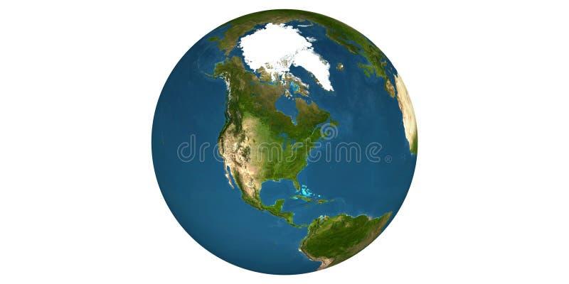 Aardewereld van ruimte ronde witte achtergrond royalty-vrije stock foto's