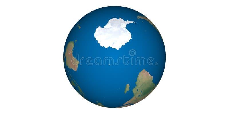 Aardewereld van ruimte ronde witte achtergrond stock foto's