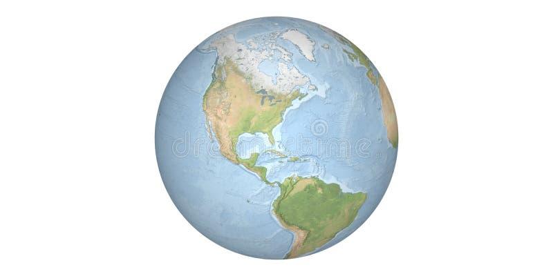 Aardewereld van ruimte ronde witte achtergrond royalty-vrije stock afbeelding