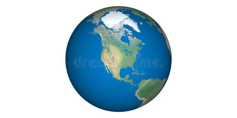 Aardewereld van ruimte ronde witte achtergrond stock foto