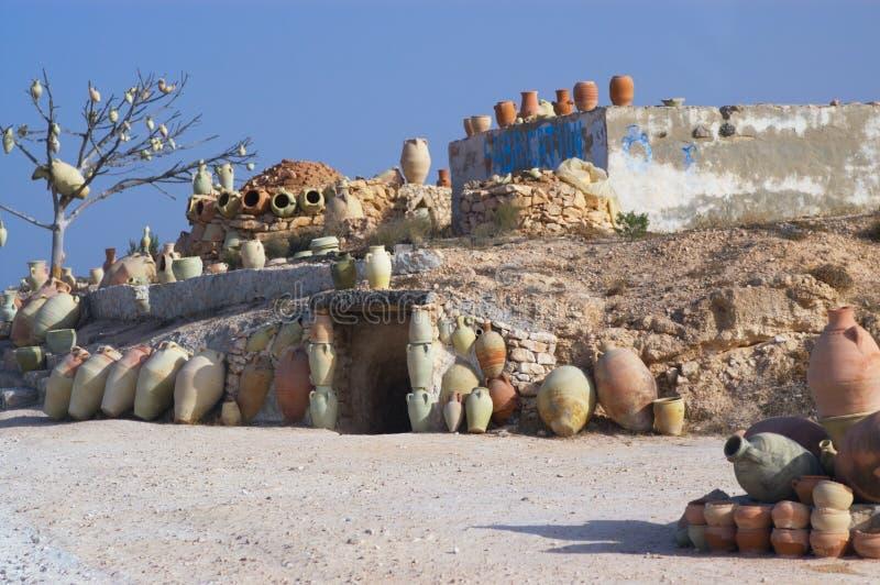 Aardewerk in Tunesië royalty-vrije stock foto
