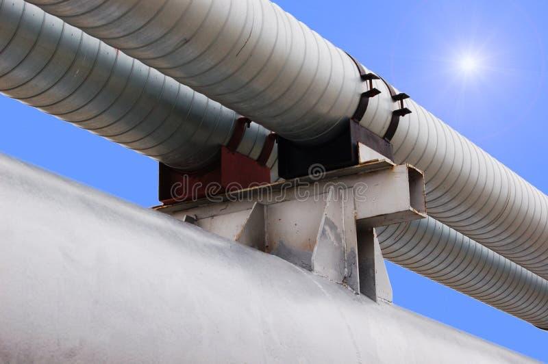 Aardgasleiding royalty-vrije stock afbeelding