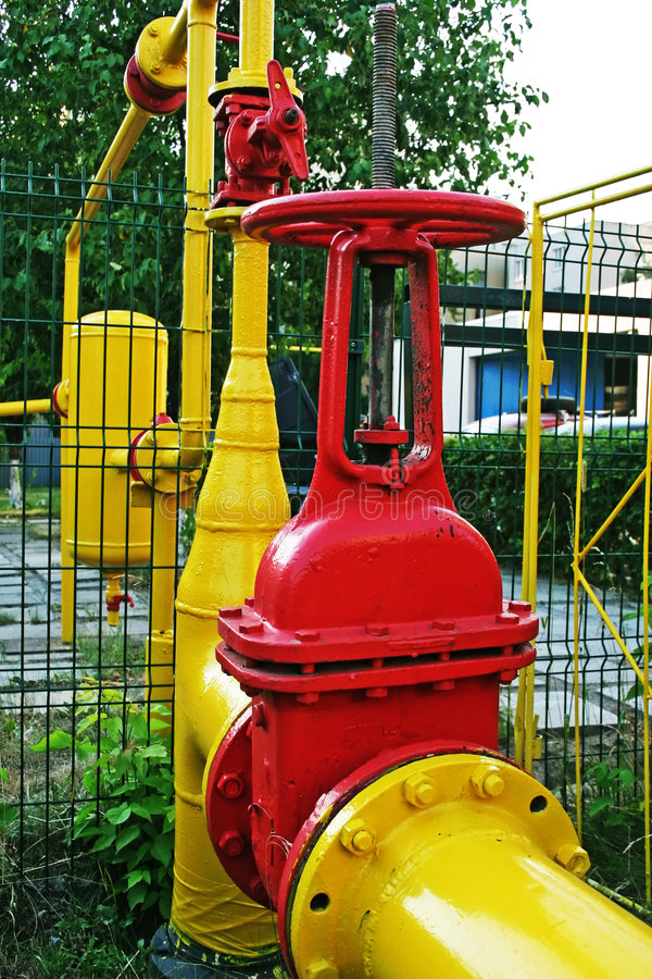 Aardgasleiding. stock foto's